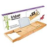 Luxus Badewanne Wanne - Bambus Holz Badewanne Caddy Rack mit...