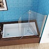MIQU 100 x 140 cm Badewannen 2 TLG. Faltwand Aufsatz...