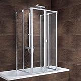 Schulte Duschabtrennung faltbar für Badewanne 70 - 80 cm,...