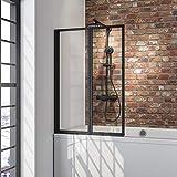 Schulte Duschwand Smart inkl, Klebe-Montage, 87 x 121 cm,...