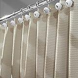 mDesign Luxus Duschvorhang Baumwollmischgewebe - 180 x 180...